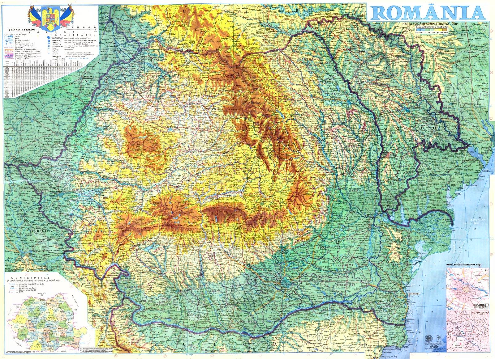 Virtual Romania Maps
